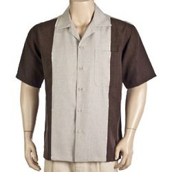 Brown and Tan Camp Shirt
