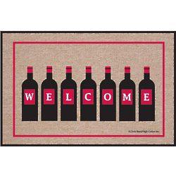 Welcome Wine Bottles Doormat