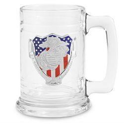 Marine Corps Glass Tankard