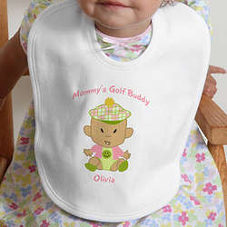 Personalized Golf Buddies Baby Bib