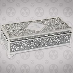Antique Silver Plated Jewelry Box