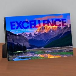 Excellence Mountain Infinity Edge Desktop Artwork