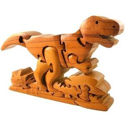 Three Dimensional Wooden Tyrannosaurus Puzzle