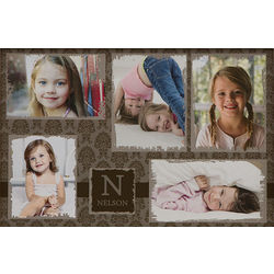 Five Photo 12x18 Personalized Picture Collage Canvas