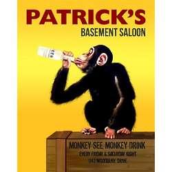 Monkey Drinks Personalized Art Print