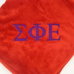 Sorority or Fraternity Personalized Fleece Blanket
