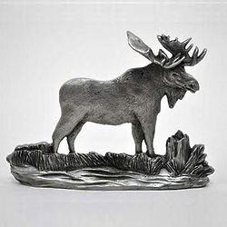 Pewter Moose Shelf Figurine