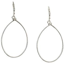 Sarah Sterling Hoop Earrings