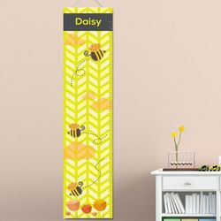 Honey Bees Personalized Growth Chart
