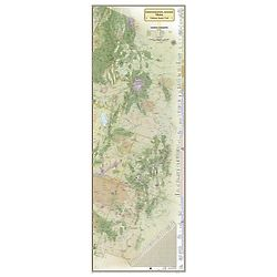 18 x 48 Inch Continental Divide Trail Wall Map