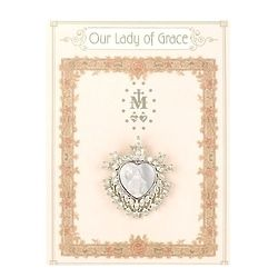 Our Lady of Grace Heart Pin