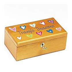 Little Girl Treasure Box with Key