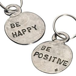 Be Happy - Be Positive Key Ring