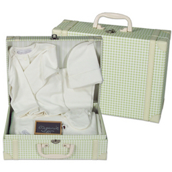Personalized Baby's Organic 4 Piece Suitcase Gift Set