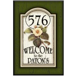 Personalized Magnolia Wood Address/Welcome Sign