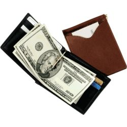 Cash Clip Wallet with Outside Pocket
