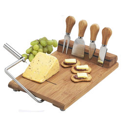 Stilton Cheese Board Set with Wire Cheese Slicer