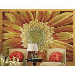 Hand-Hooked Sunflower Rug