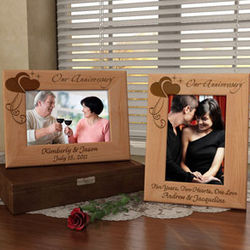 Personalized Anniversary Wooden Picture Frame