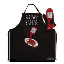 Barbecue Sauce Apron and Mitt Set