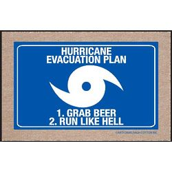 Hurricane Evacuation Plan Doormat