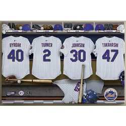 New York Mets 16x24 Personalized Locker Room Canvas