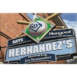 Tampa Bay Rays 16x24 Personalized Pub Sign Canvas