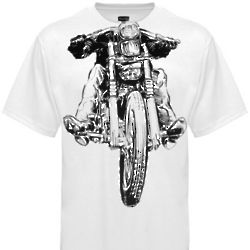 One Percenter Motorcycle T-Shirt in White