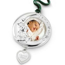 Baby Moon Frame Christmas Ornament