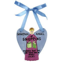 Guardian Angel of Shopping Ornament
