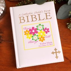 Personalized Catholic Child's First Bible