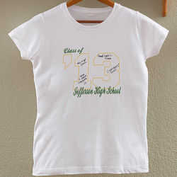 Class Of Personalized Signature Fitted T-Shirt