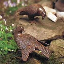 Garden Doves in Antique Bronze