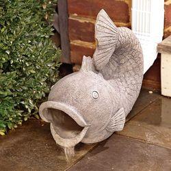 Friendly Fish Decorative Garden Down Spout