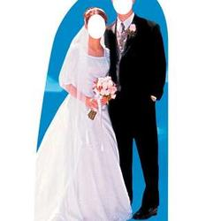 Bride and Groom Stand-In Stand-Up Standee