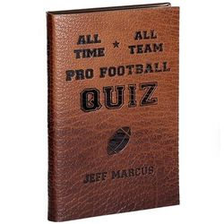 Leather Bound All-Time, All-Team Pro Football Quiz Boook
