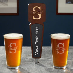 Personalized Pint Glasses & Tap Handle Gift Set