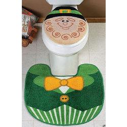 Leprechaun Toilet Seat Cover & Rug Set
