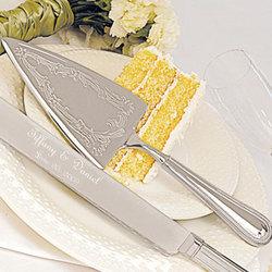 Beaded Cake Service Set