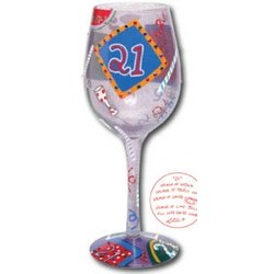21 Hand-Painted Wine Glass