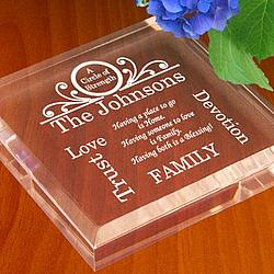 Personalized Family Circle of Strength Paperweight