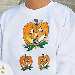Pumpkin Family Personalized Sweatshirt