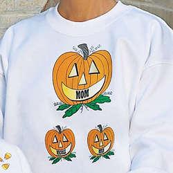Pumpkin Family Personalized Sweatshirt