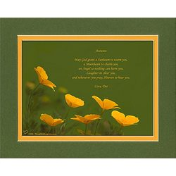 Family or Friend Poem Personalized Poppies Print