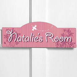 Personalized Daisy Delight Kid's Room Sign