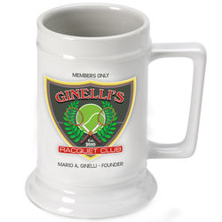 Personalized Racquet Club Beer Stein