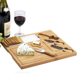 Celtic Cheese Board Set with Removable Ceramic Dish
