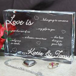 Love Is Engraved Block