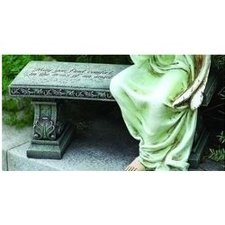 May You Find Comfort Garden Bench