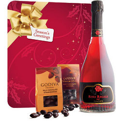 Godiva Chocolate and Dessert Bubbly Wine Gift Set